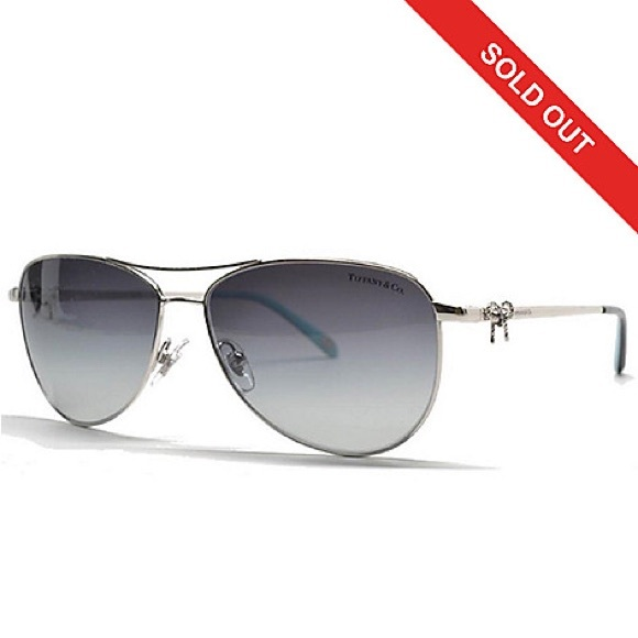 227f01403520 NEW Tiffany   Co Silver Aviators with bow detail